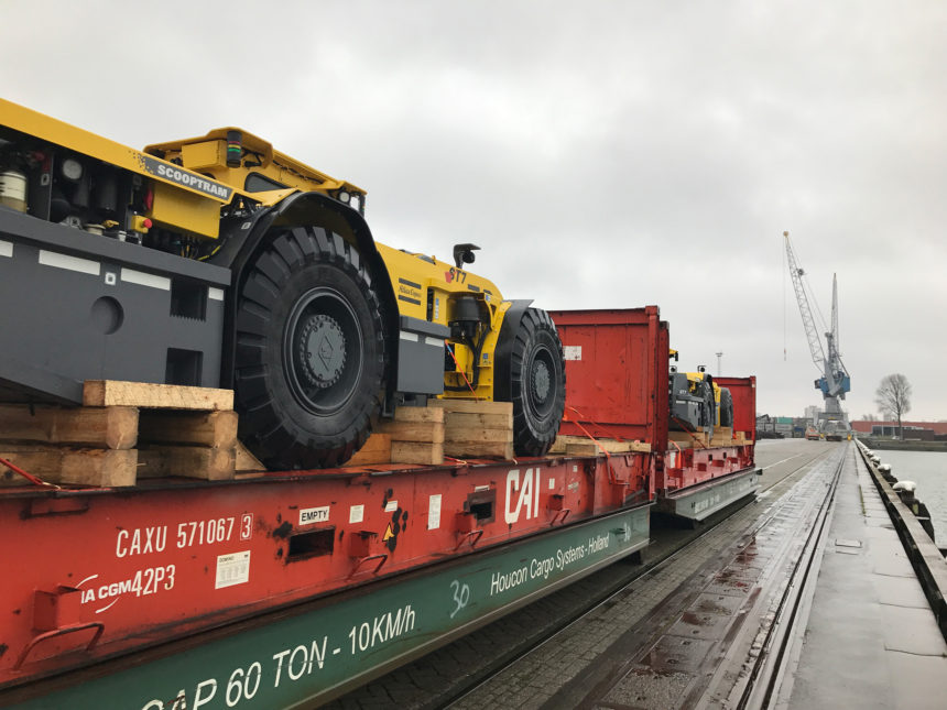 Delivery of mining machinery