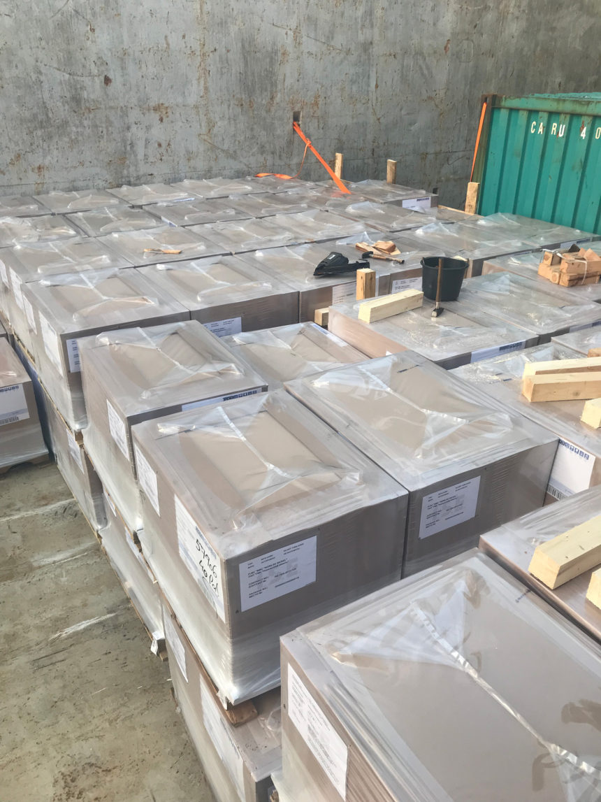 Shipment of refractory materials