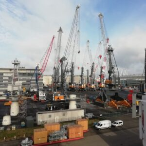 Shipment of 2 dismantled lhm 420 ex rostock, germany, july 2020